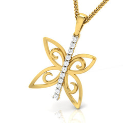 diamond studded gold jewellery - Wainani Fashion Pendant - Pristine Fire - 1