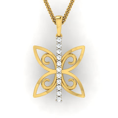 diamond studded gold jewellery - Wainani Fashion Pendant - Pristine Fire - 2
