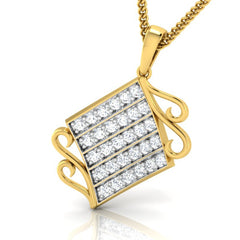 diamond studded gold jewellery - Wakeisha Fashion Pendant - Pristine Fire - 1