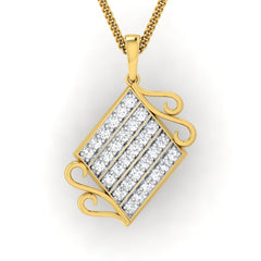 diamond studded gold jewellery - Wakeisha Fashion Pendant - Pristine Fire - 2