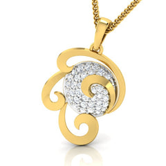 diamond studded gold jewellery - Wanika Fashion Pendant - Pristine Fire - 1