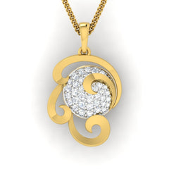 diamond studded gold jewellery - Wanika Fashion Pendant - Pristine Fire - 2