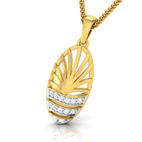 diamond studded gold jewellery - Wera Fashion Pendant - Pristine Fire - 1