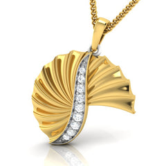 diamond studded gold jewellery - Wilhelmina Fashion Pendant - Pristine Fire - 1
