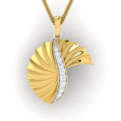 diamond studded gold jewellery - Wilhelmina Fashion Pendant - Pristine Fire - 2