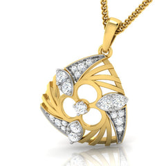 diamond studded gold jewellery - Wilona Fashion Pendant - Pristine Fire - 1