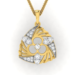 diamond studded gold jewellery - Wilona Fashion Pendant - Pristine Fire - 2