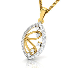 diamond studded gold jewellery - Winnie Fashion Pendant - Pristine Fire - 1