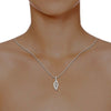 diamond studded gold jewellery - Winola Fashion Pendant - Pristine Fire - 4