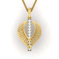 diamond studded gold jewellery - Wisia Fashion Pendant - Pristine Fire - 2
