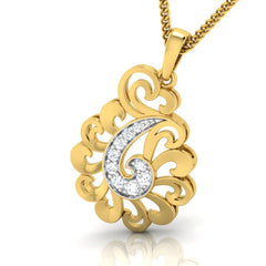 diamond studded gold jewellery - Yael Fashion Pendant - Pristine Fire - 1