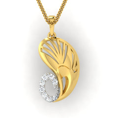 diamond studded gold jewellery - Yakira Fashion Pendant - Pristine Fire - 2