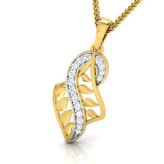 diamond studded gold jewellery - Yaletha Fashion Pendant - Pristine Fire - 1