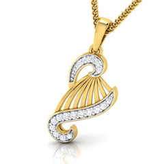 diamond studded gold jewellery - Yamelia Fashion Pendant - Pristine Fire - 1