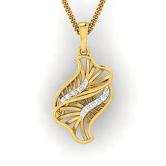 diamond studded gold jewellery - Yamila Fashion Pendant - Pristine Fire - 2