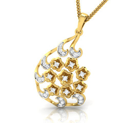 diamond studded gold jewellery - Yasemin Fashion Pendant - Pristine Fire - 1