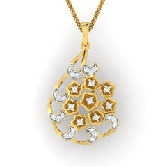 diamond studded gold jewellery - Yasemin Fashion Pendant - Pristine Fire - 2