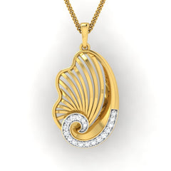 diamond studded gold jewellery - Yashira Fashion Pendant - Pristine Fire - 2