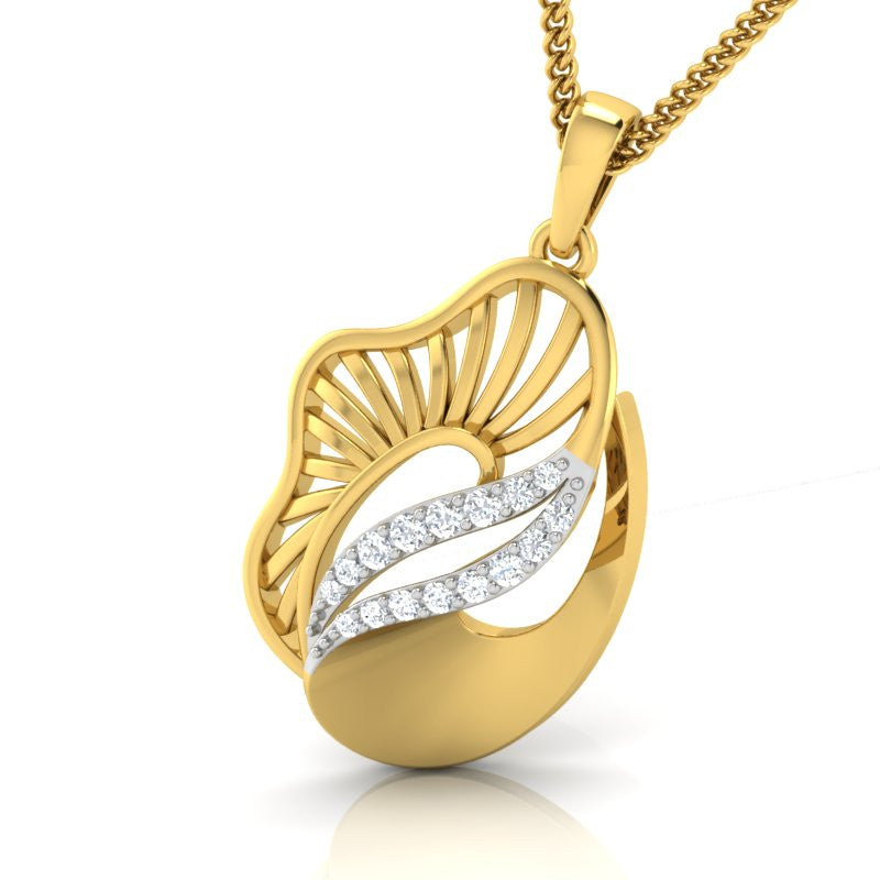 diamond studded gold jewellery - Yeira Fashion Pendant - Pristine Fire - 1