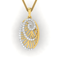 diamond studded gold jewellery - Yemena Fashion Pendant - Pristine Fire - 2