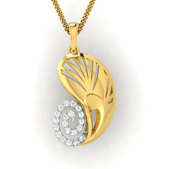 diamond studded gold jewellery - Yevgenia Fashion Pendant - Pristine Fire - 2