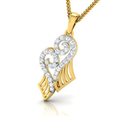 diamond studded gold jewellery - Yoanna Fashion Pendant - Pristine Fire - 1