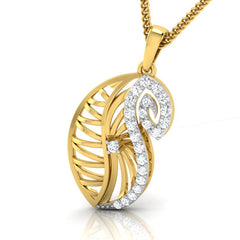 diamond studded gold jewellery - Yoselyn Fashion Pendant - Pristine Fire - 1