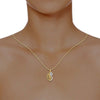 diamond studded gold jewellery - Yoselyn Fashion Pendant - Pristine Fire - 4