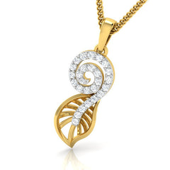 diamond studded gold jewellery - Yuki Fashion Pendant - Pristine Fire - 1