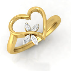 diamond studded gold jewellery - Annisha Fashion Ring - Pristine Fire - 1