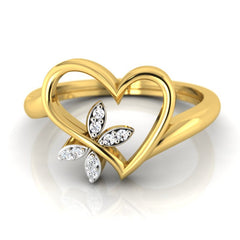 diamond studded gold jewellery - Annisha Fashion Ring - Pristine Fire - 2