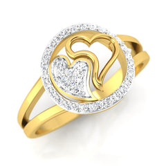 diamond studded gold jewellery - Danesha Fashion Ring - Pristine Fire - 1