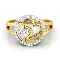 diamond studded gold jewellery - Danesha Fashion Ring - Pristine Fire - 2