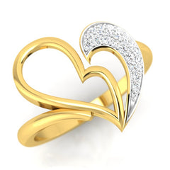 diamond studded gold jewellery - Lashanda Fashion Ring - Pristine Fire - 1