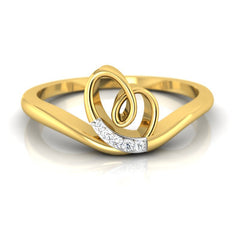 diamond studded gold jewellery - Jilli Casual Ring - Pristine Fire - 2