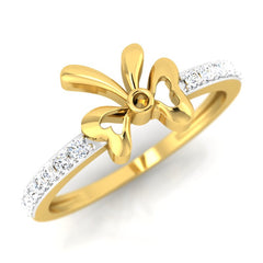 diamond studded gold jewellery - Bova Casual Ring - Pristine Fire - 1