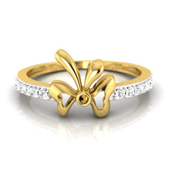 diamond studded gold jewellery - Bova Casual Ring - Pristine Fire - 2