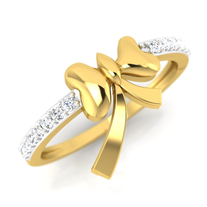diamond studded gold jewellery - Nephthys Promise Ring - Pristine Fire - 1
