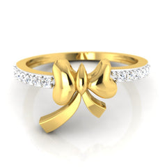 diamond studded gold jewellery - Nephthys Promise Ring - Pristine Fire - 2