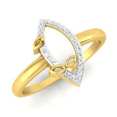 diamond studded gold jewellery - Helvecia Casual Ring - Pristine Fire - 1