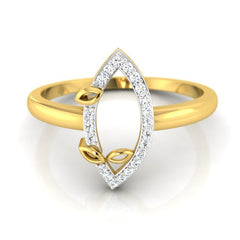 diamond studded gold jewellery - Helvecia Casual Ring - Pristine Fire - 2