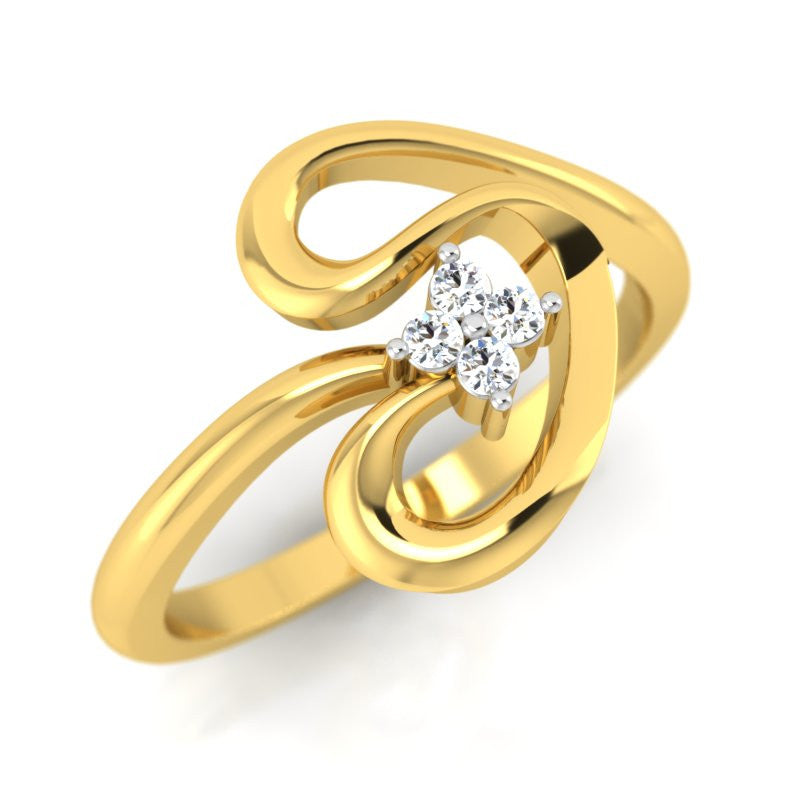 diamond studded gold jewellery - Jolee Fashion Ring - Pristine Fire - 1