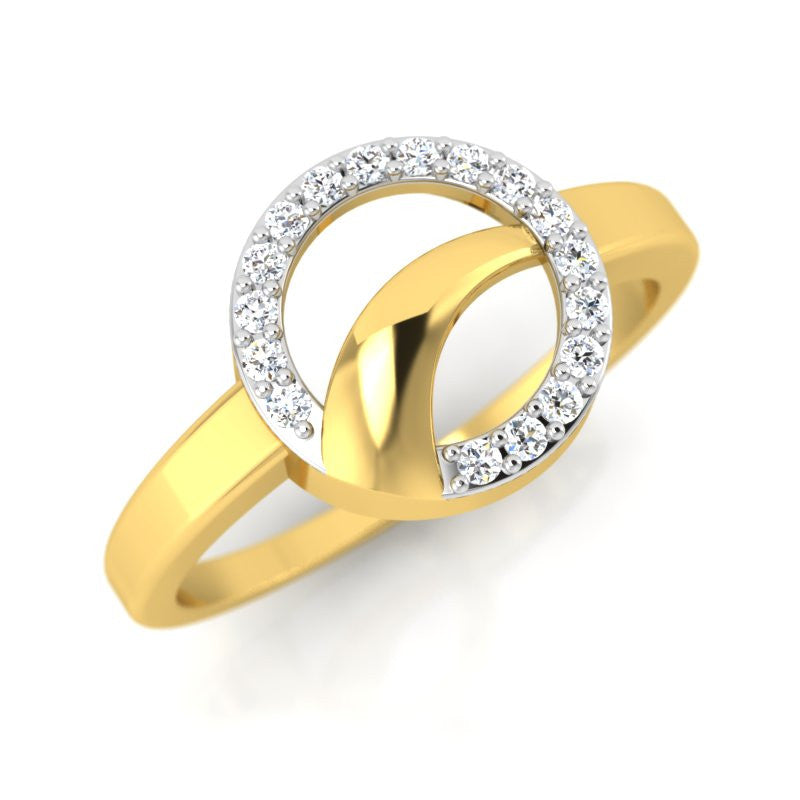 diamond studded gold jewellery - Chung-Ae Fashion Ring - Pristine Fire - 1