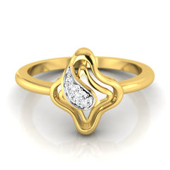 diamond studded gold jewellery - Karmel Fashion Ring - Pristine Fire - 2
