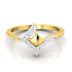 diamond studded gold jewellery - Karisa Fashion Ring - Pristine Fire - 2