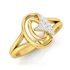 diamond studded gold jewellery - Jessalyn Fashion Ring - Pristine Fire - 1