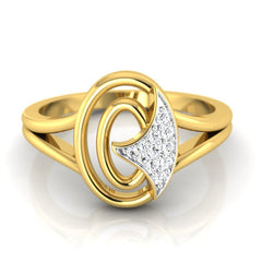diamond studded gold jewellery - Jessalyn Fashion Ring - Pristine Fire - 2