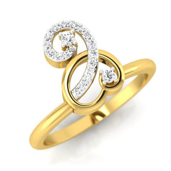diamond studded gold jewellery - Ailani Casual Ring - Pristine Fire - 1
