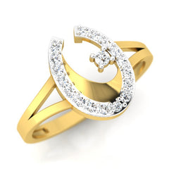 diamond studded gold jewellery - Kamea Fashion Ring - Pristine Fire - 1