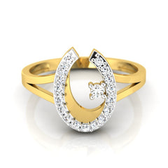 diamond studded gold jewellery - Kamea Fashion Ring - Pristine Fire - 2